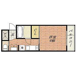 グランディール茨木[4階]の間取り