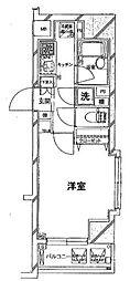 東京メトロ有楽町線 銀座一丁目駅 徒歩4分の賃貸マンション 5階1Kの間取り