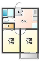 タウン21[2階]の間取り