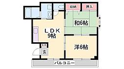 グリーンハイツ柳原[2階]の間取り