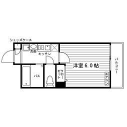 学生会館 茨木プラザレジデンス食事付き[3階]の間取り