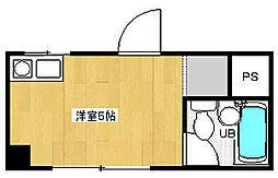 菅栄町レディースマンション[3階]の間取り