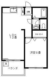 第2小川マンション[203号室]の間取り