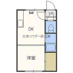 サンコート麻生[3階]の間取り