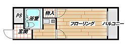 ハーモニーハイツ花園[4階]の間取り