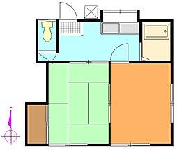 第二本陣荘[211号室]の間取り