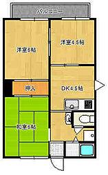 [タウンハウス] 兵庫県尼崎市富松町4丁目 の賃貸【/】の間取り