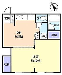 金徳マンション[1階]の間取り