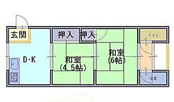 第二永和荘[2階]の間取り