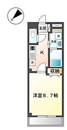 DENSHII平井[3階]の間取り