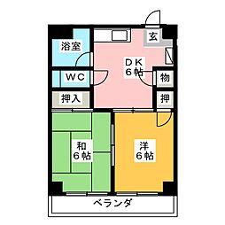 コーポキトウ[3階]の間取り