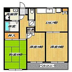 Fifth Arai Place[1階]の間取り