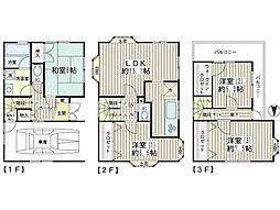 [一戸建] 東京都品川区大崎2丁目 の賃貸【/】の間取り