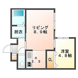 北海道札幌市中央区南十条西13の賃貸マンションの間取り