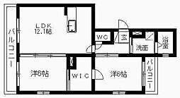 静岡県浜松市南区小沢渡町の賃貸マンションの間取り
