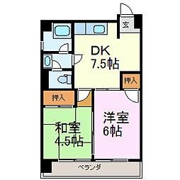 ファミール千代田[5D号室]の間取り