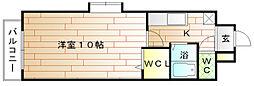 福岡県宗像市赤間文教町の賃貸マンションの間取り