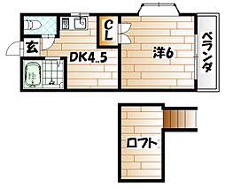 レオパレス浅川台[1階]の間取り