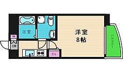 大阪府大阪市中央区粉川町の賃貸マンションの間取り