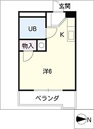 マルジンM[2階]の間取り