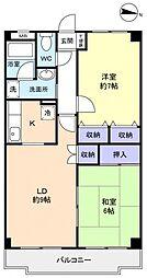 メゾンドール岩井[3階]の間取り