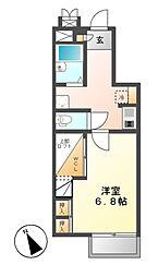 レオパレスSHINOHARA[1階]の間取り