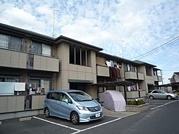 広島県福山市駅家町大字上山守の賃貸アパートの外観