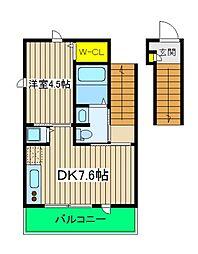 Pino Village[2階]の間取り