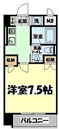 仙台市地下鉄東西線 大町西公園駅 徒歩6分の賃貸マンション 10階1Kの間取り