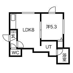 サニープレイスIII[3階]の間取り