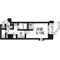 プレサンス京都五条大橋レジェンド301号[3階]の間取り