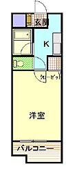 ラ・フォーレ桜ヶ丘[1階]の間取り