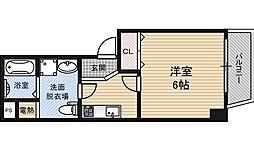 GEIOT新大阪 4階1Kの間取り