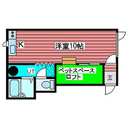 コンパクトルーム[2階]の間取り