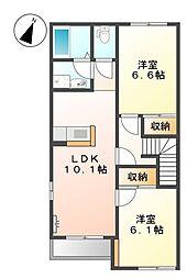 マノリアII[2階]の間取り