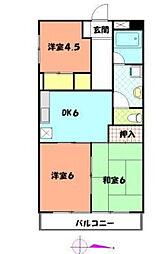 第3ロイヤルマンション[4階]の間取り