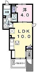 阪急神戸本線 岡本駅 徒歩14分の賃貸アパート 1階1LDKの間取り