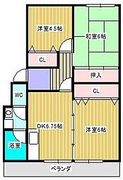 オークマ・レジデンス[1階]の間取り