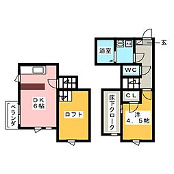 CB高宮ディライト[1階]の間取り