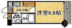エステートモア六本松II[6階]の間取り