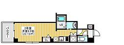 Regulus三ノ輪 8階1Kの間取り