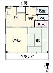 吉村コーポ[2階]の間取り