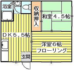 モリハイム小松II[1階]の間取り