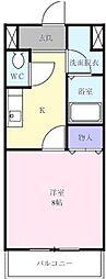 サニーホームハザマ[  101号室]の間取り