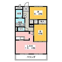 ローズ・ガーデン II[2階]の間取り
