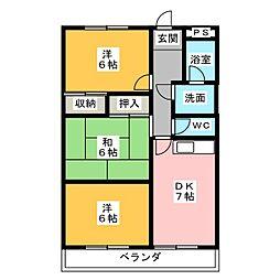 シティパレス山田 B[1階]の間取り