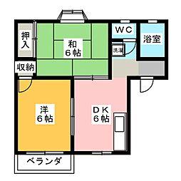 ニューハウン B棟[1階]の間取り