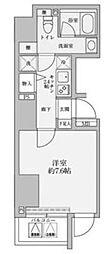 リヴシティ赤坂 11階1Kの間取り