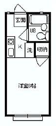 ハイムパーシモン[1階]の間取り