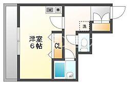 兵庫県神戸市垂水区山手2丁目の賃貸マンションの間取り